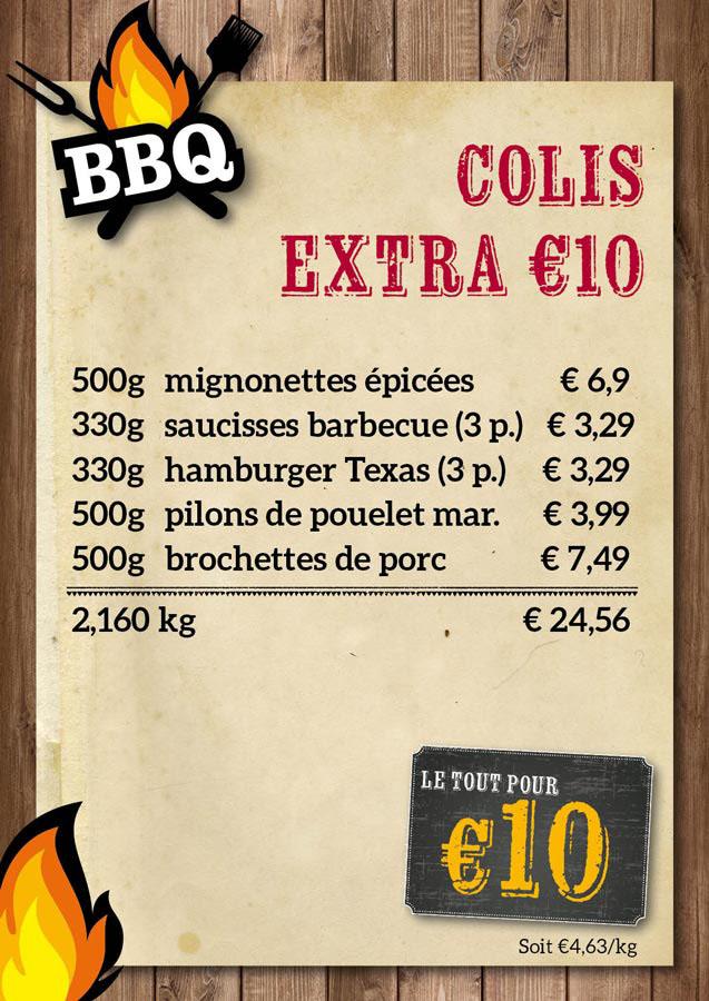 BBQ colis €10 - De Kleine Bassin