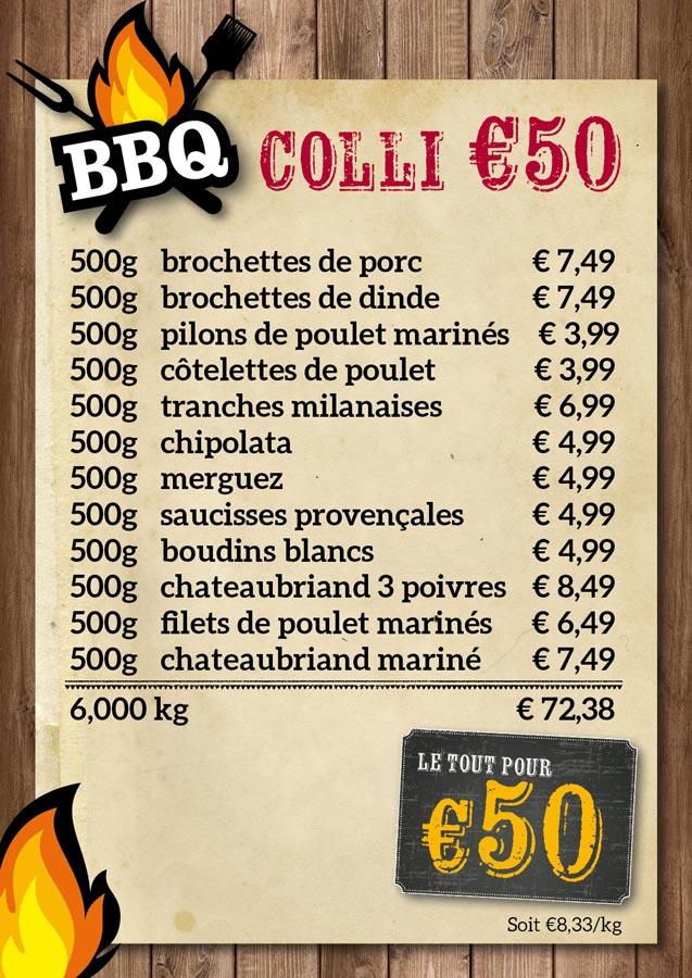 BBQ colis €50 - De Kleine Bassin