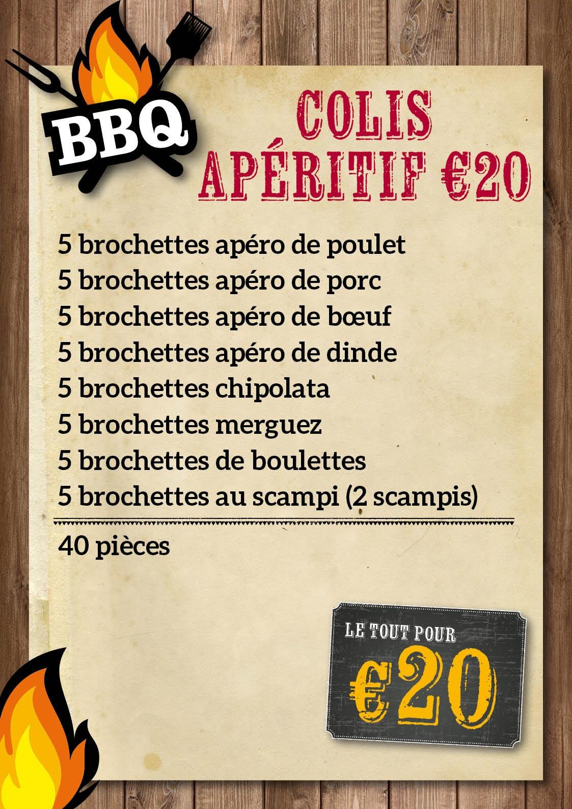 Colis apéritif  BBQ € 20 - De Kleine Bassin