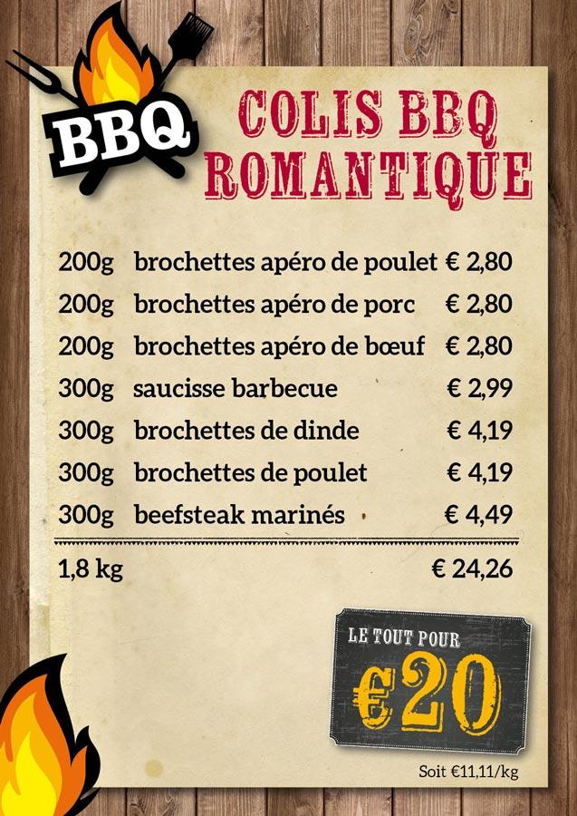 BBQ colis romantique - De Kleine Bassin