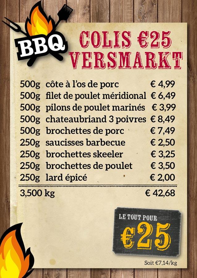 BBQ colis Versmarkt €25 - De Kleine Bassin