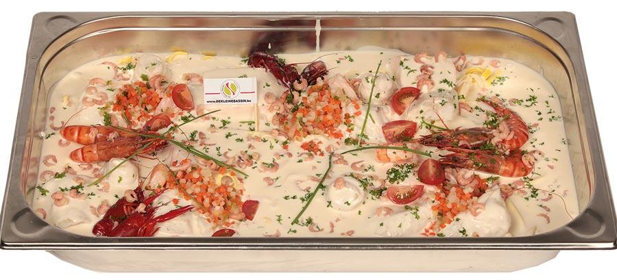 Cassolette de poisson géante  du chef - De Kleine Bassin