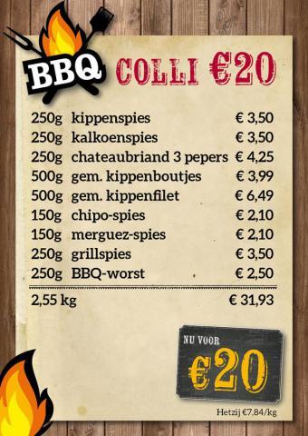 De Kleine Bassin - BBQ-colli €20