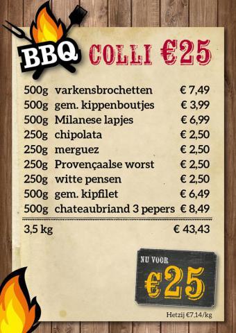 De Kleine Bassin - BBQ-colli €25