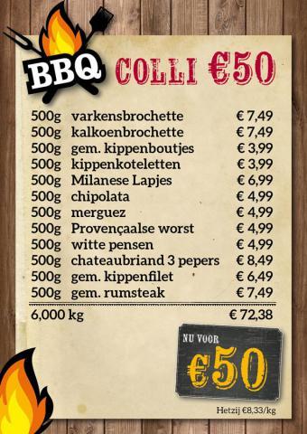 De Kleine Bassin - BBQ-colli €50