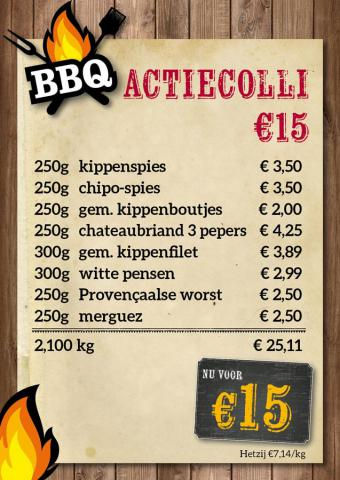 De Kleine Bassin - BBQ actiecolli €15