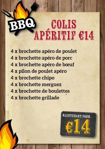 Colis apéritif  BBQ € 14 - De Kleine Bassin
