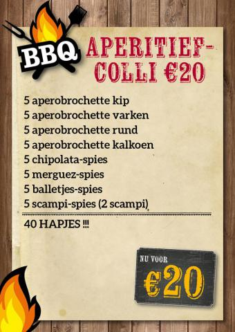 BBQ Aperitiefcolli €20 - De Kleine Bassin
