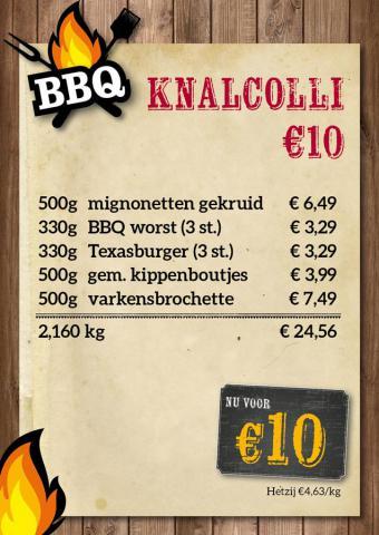De Kleine Bassin - knalcolli €10
