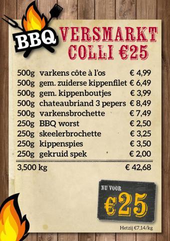 De Kleine Bassin - BBQ versmarktcolli €25