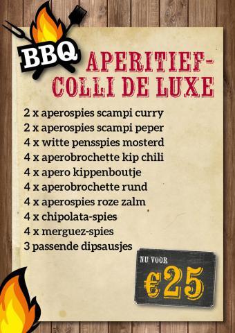 De Kleine Bassin - BBQ aperitiefcolli de luxe €25