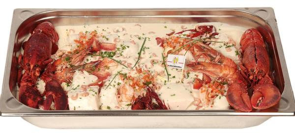 Cassolette de poisson géante royale - De Kleine Bassin